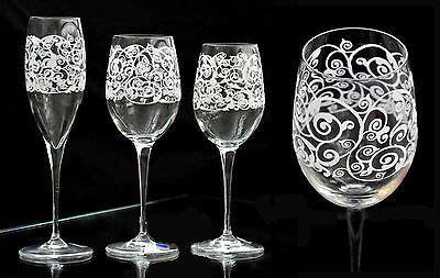 henriette bicchieri calici liquore con stelo multiforme multicolore