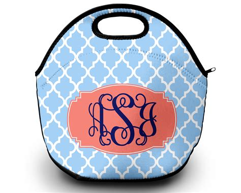 lunch tote personalized monogrammed lunch box sassy southern gals monogrammed gifts
