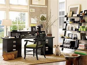 Cute home office ideas elegant home office with wooden for Ideas for an office