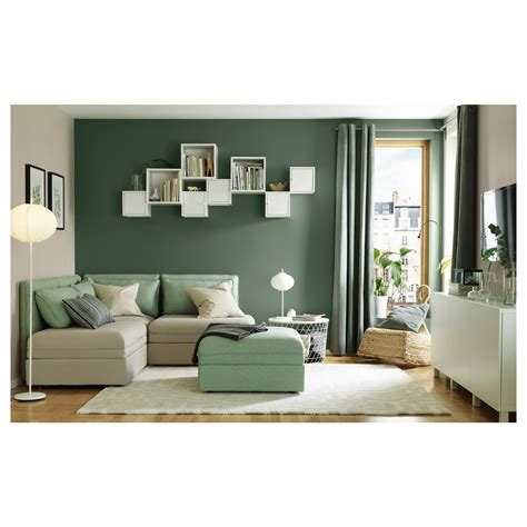 sanela curtains 1 pair grey green 140x250 cm ikea
