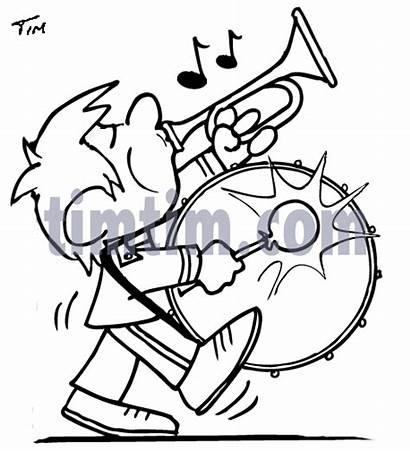 Marching Band Clipart Drum Drawing Clip Bass