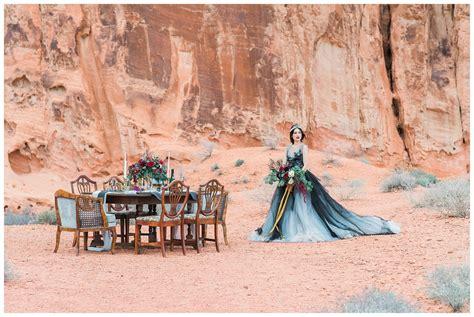 valley  fire desert wedding stylized shoot