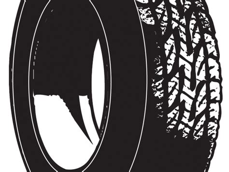 Car Tires Graphic Black And White