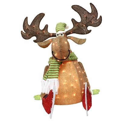 holiday living   lighted moose outdoor christmas