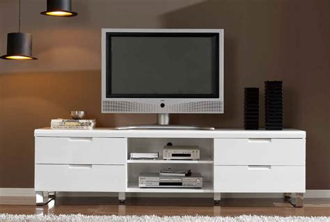 cabinet with tv rack white high gloss polished wooden tv stand with 4 pull out