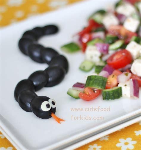 haloween food cute food for kids fun and healthy halloween food idea olive snake
