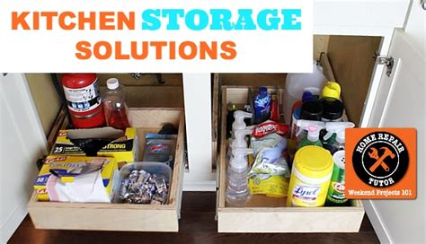 kitchen sink storage solutions home repair tutor 5969