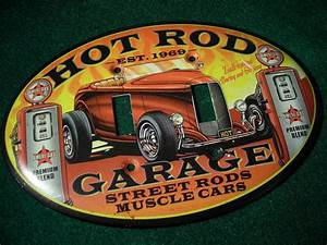 """DOUBLE LIGHT SWITCH PLATE - """"HOT ROD GARAGE"""" HOME OR"""