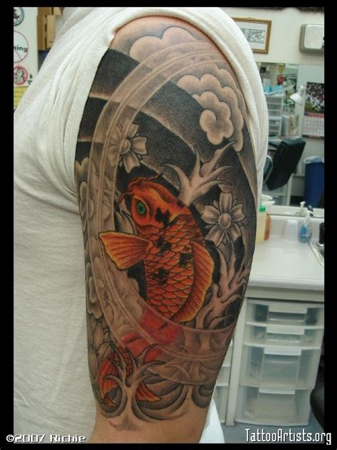 tatouage carpe koi  inkage