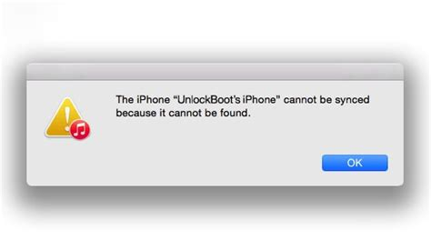 iphone cannot be synced because it cannot be found fix iphone cannot be synced because it cannot be found error