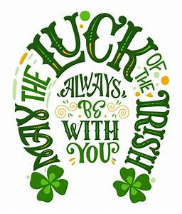 st 39 s day typography quote in horseshoe design