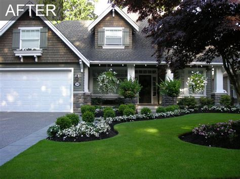 front yard lawn ideas front yard front yard makeover transformation south surrey bc