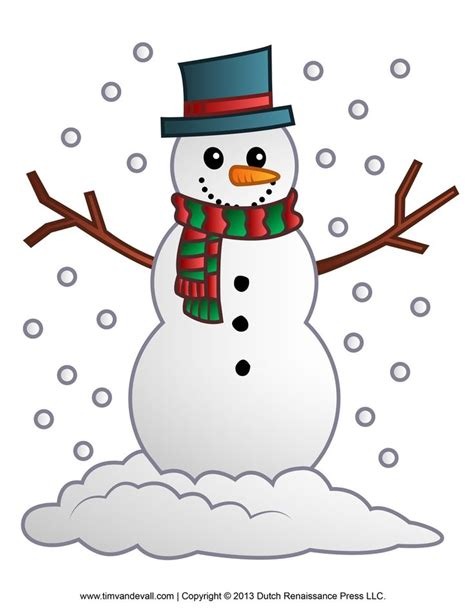 Clipart Snowman Free Snowman Clipart Template Printable Coloring Pages