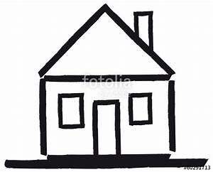 Haus Strichzeichnung Einfach : der traum vom eigenheim haus mit satteldach abstrakter vektor stockfotos und lizenzfreie ~ Watch28wear.com Haus und Dekorationen