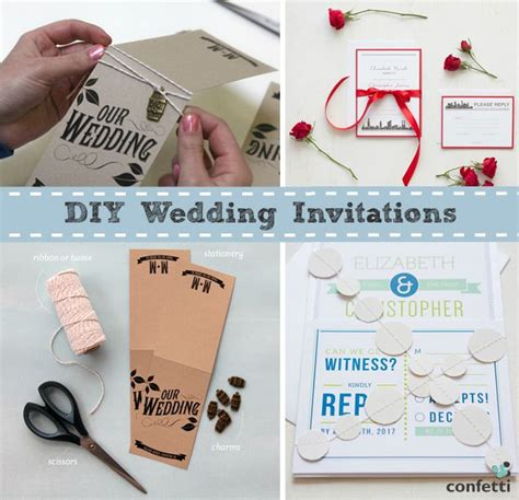 diy wedding invitation stationery uk diy wedding craft ideas confetti co uk