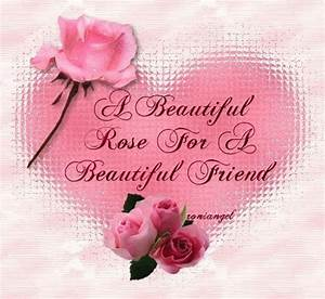 A Beautiful Rose for a Beautiful Friend friendship quote ...