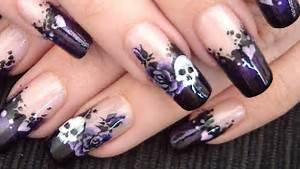 Gothic love nail art design tutorial