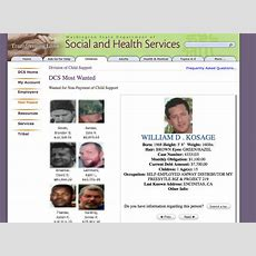 Dean Kosage On Washington State' Division Of Child Support Most Wanted List Amthrax