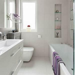 Small modern white bathroom | Bathroom decorating ...