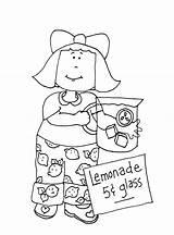 Lemonade Coloring Cup Template Dolls sketch template