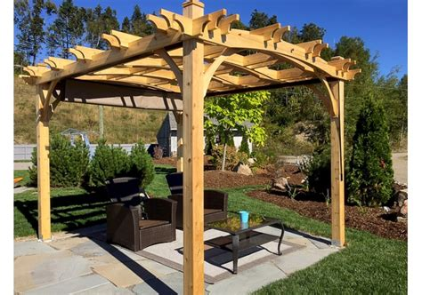 pergola with roof 10 x12 arched pergola with retractable canopy outdoor living today