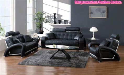 black leather living room set modern black leather sofa set amazing living room design 16837