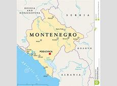 Montenegro Political Map stock vector Image of berane