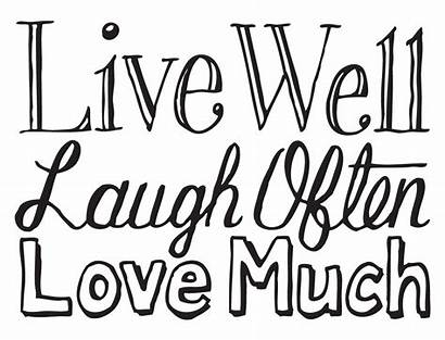 Laugh Much Well Often Words Drawn Coloring