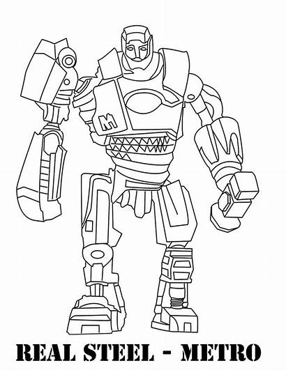 Coloring Steel Pages Boy Noisy Robots Metro