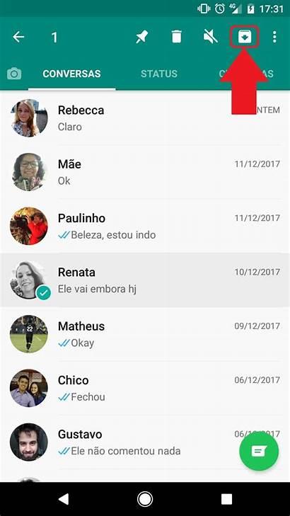 Tela Conversa Whatsapp Conversas Inicial Esconder Como