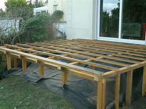 terrasse bois composite sur pilotis With realiser une terrasse sur pilotis