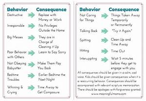 Discipline Chart For 10 Year Old Consequences That Make Sense