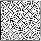 Coloring Mosaic Patterns Adults Popular sketch template