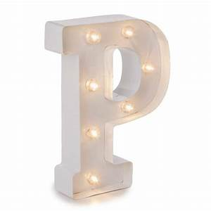 darice light up sign white marquee letters letter p 9875quot With darice marquee letters white