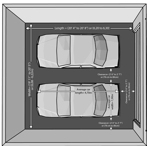 average car width the dimensions of an one car and a two car garage