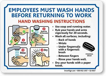 Washing Hand Signs Wash Hands Sign Employee