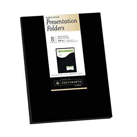 southworth executive single pocket presentation folders 9