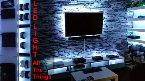 entertainment room ideas project room vlog 04 diy led light all the