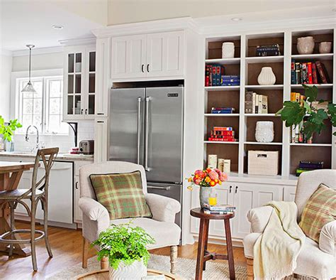 This Combo Kitchen And Sitting Room Makes The Most Of Every Square Inch Of Space, Thanks To A