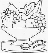 Salad Coloring Clipart Fruit sketch template
