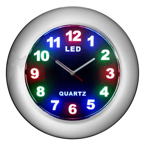 12 quot led clock with chrome frame walmart