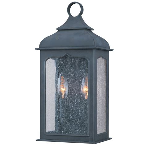 troy lighting henry 2 light colonial iron outdoor