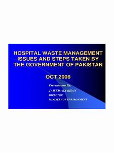 Hospital Chart Template Waste Management Ppt 4 Free Templates In Pdf Word