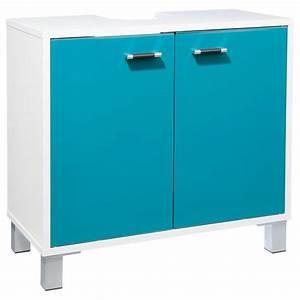 Meuble Salle De Bain Turquoise : meuble sous lavabo gloss turquoise ~ Dailycaller-alerts.com Idées de Décoration