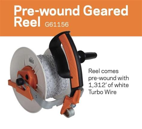 gallagher pre wound geared electric fence grazing reel and turbo wire gallagher fence