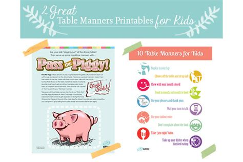 table manners for kids teaching kids manners 10 table manners printable imom