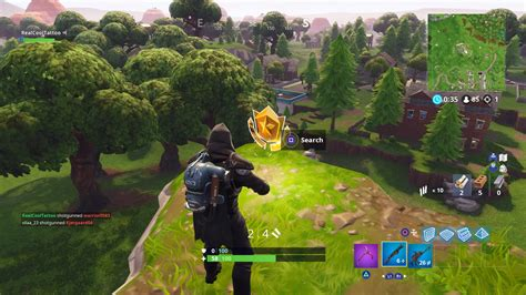 fortnite shifty shafts treasure map location vg