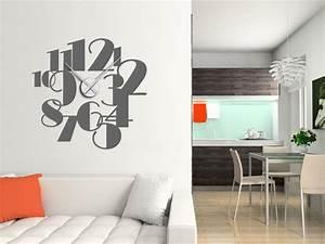 Große Uhr Wand : wandtattoo uhr gro e zahlen wanduhr ziffern gro wandtattoo bei ~ Indierocktalk.com Haus und Dekorationen