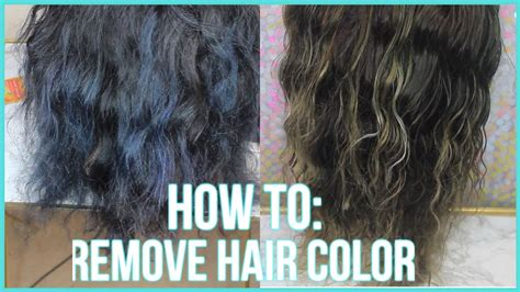 How To Remove Color From Hair  3 Methods  2016 Youtube