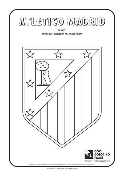 cool coloring pages atletico madrid logo coloring page cool coloring pages  educational